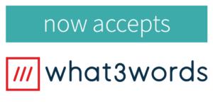 now accepting w3w